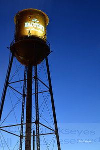 The water tower as the sun was rising at The Factory.