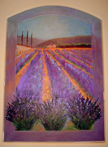 """Lavender Fields at Provence"" Sally Landis (Oil on canvas, 2004-2005)"