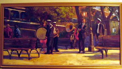 """Spring in the Square, New Orleans"" Scott Pettersen (Oil on canvas, acq 2000) see Scott's work at  http://www.roadtoburmashave.com/"