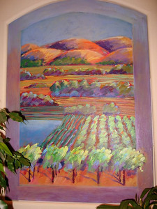 """Vineyards at Napa"" Sally Landis (Oil on canvas, 2004-2005)"