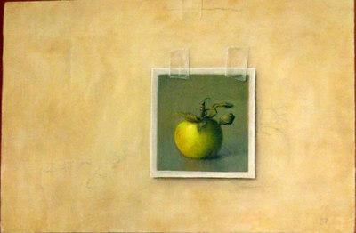 """Apple"" Chris Leib (Oil on board, 2005)"