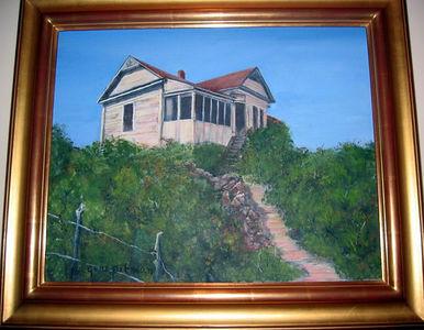 """Old Farm in Georgia"" Gene Pitman (Oil on canvas, 1996)"