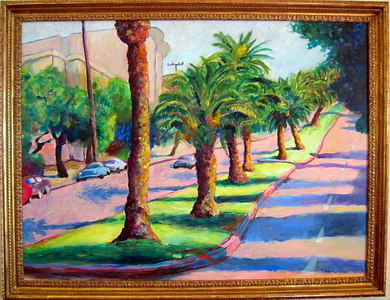 """Dolores Street"" Tom Schwabenlander (Oil on canvas, 1997, acq 2000)"