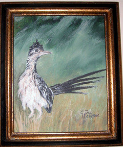"""""""Guinea hen"""" Gene Pitman (Oil on canvas, 1991)"""