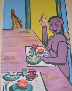 """""""Gladys"""" Julie Rebouche (Oil on canvas, 2001)"""
