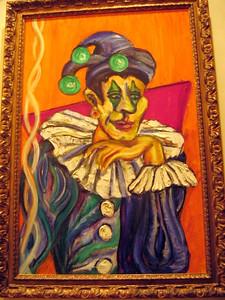 """""""Harlequin #3"""" Julie Rebouche (Oil on canvas, 2000)"""