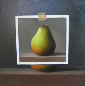 """""""Pear"""" Chris Leib (Oil on canvas, 2004)"""