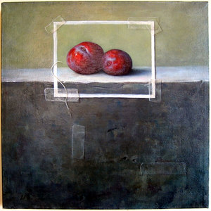 """Plums"" Chris Leib (Oil on canvas, 2004)"