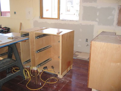 During: Cabinet install (Oct 2004)
