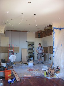 During: Building new soffits and remedial drywalling (Oct 2004)