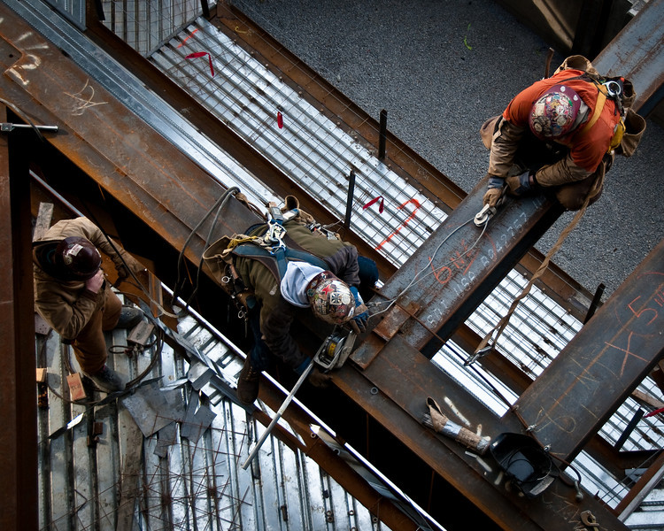 Iron workers at The Palladium - Carmel, IN