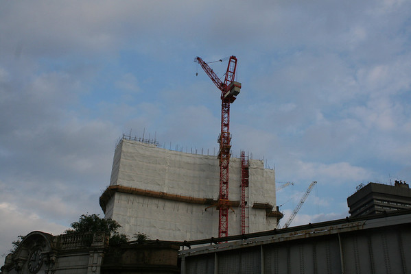 Thursday 13 May 2010<br /> <br /> Eighteen days since the previous photograph of this building and height is diminished.<br /> <br /> The crane in the background is the being used for the construction of The Shard.