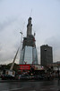 Sunday 14 November 2010: The Shard @ London Bridge<br /> <br /> The external structure of The Shard has now reached the top of the first stage of the central core. The core has now reached floor 63 and narrower top section is growing steadily.