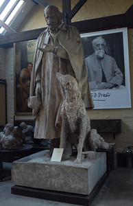 Plaster cast for Tennyson Statue, Bronze now in Lincoln