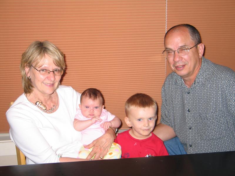 Grandma Eileen, Zia, Cooper and Grandpa Mike on 6/14/09