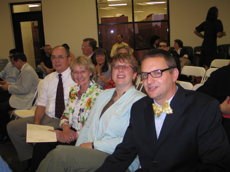 """The Ferrances at the awards evening prior to graduation.  Dave received a """"clinical excellence"""" award and recognition for the law review.  The rest of us received horrible back pain from the chairs."""