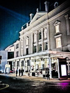 Royal Lyceum Theatre, Edinburgh at night