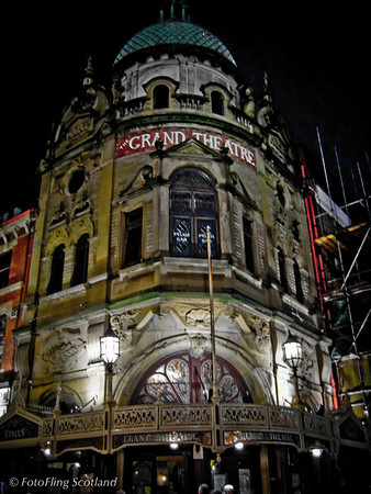 "Grand Theatre, Blackpool The Grand was designed by Victorian theatre architect Frank Matcham and was opened in 1894 after a construction period of about nine months, at a cost of £20,000 between December 1893 and July 1894. The project was conceived and financed by local theatre manager Thomas Sergenson who had been using the site of the Grand for several years to stage a circus.  Matcham's brief was to build Sergenson the ""prettiest theatre in the land"". The Grand was Matcham's first theatre to use an innovative 'cantilever' design to support the tiers, thereby reducing the need for the usual pillars and so allowing clear views of the stage from all parts of the auditorium. Sergenson's successful directorship of the theatre ended in 1909 when he sold the operation to the Blackpool Tower Company for a considerable profit. The success of the Grand continued through World War I and on until the 1930s. The theatre now faced stiff competition from the newly introduced talking movies and the building was operated as a cinema outside the summer tourist season. This practice continued until 1938 when the nearby Opera House was constructed. The Grand was able to stay open during World War II but the post-war rise in the popularity of television was probably the cause of the theatre's dwindling popularity toward the 1960s. Plans were filed for the demolition of the historic site in 1972 but the Grand's status as a Grade II listed building was sought and obtained by a group of friends, thereby preventing this from taking place. An agreement was reached with the Grand's owners, EMI, that a refurbishment of the then unused building would take place if it could be used as a bingo hall. After three years of bingo use, the group of friends, now called the Friends of the Grand, with the support of Blackpool Borough Council negotiated to lease and eventually buy the theatre back from EMI over a period of a few years. The purchase was complete by 1 October 1980 and a refurbishment, achieved partly through voluntary effort, was begun. Finally, on 23 March 1981 the Grand re-opened as a theatre once again to stage an Old Vic performance of William Shakespeare's The Merchant of Venice featuring Timothy West and Prunella Scales. The theatre's return was further confirmed in May of the same year when a Royal Variety Performance was staged in the presence of Charles, Prince of Wales"