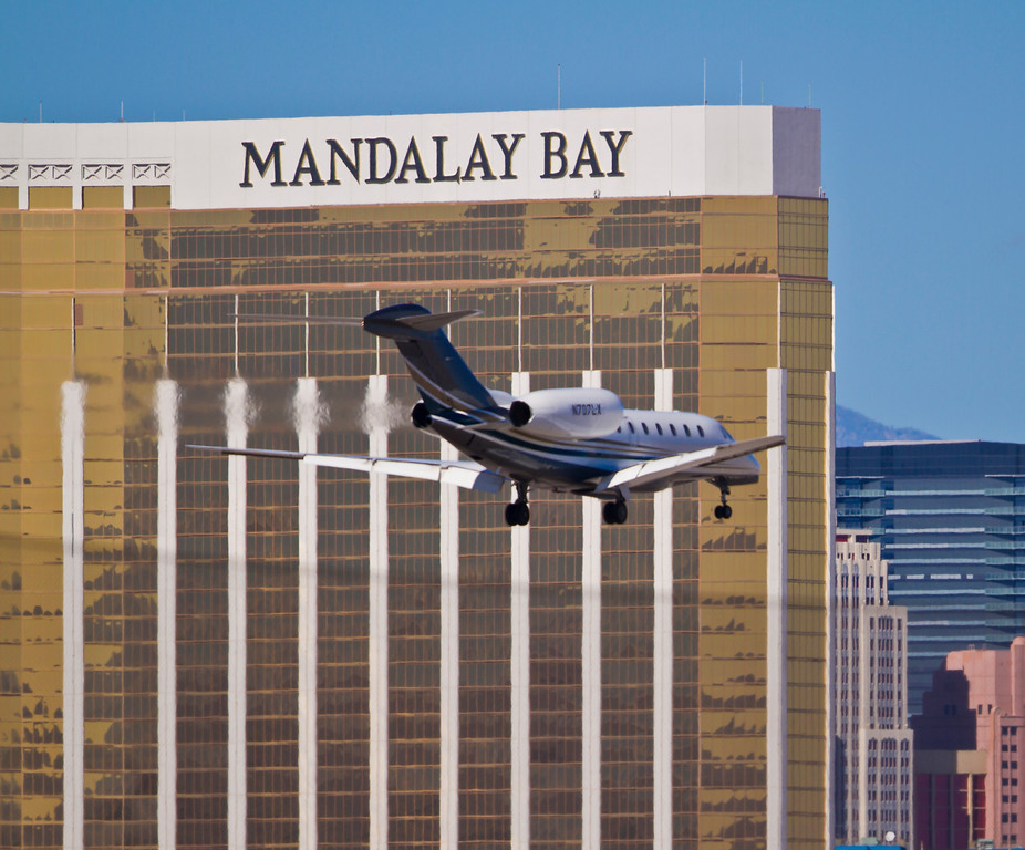 Cessna 750 registered to the Target Corporation heads to Las Vegas, Las Vegas, NV