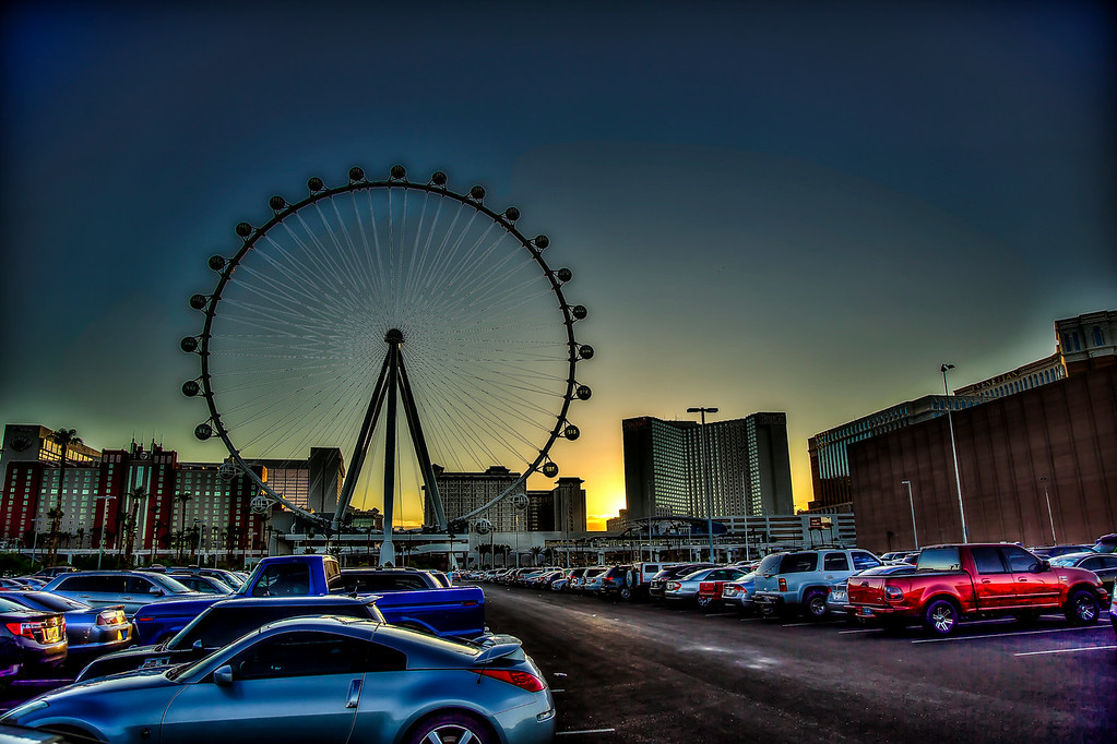 Playing with a little HDR of the sunset.  Need to get a wider angle lens, yikes.  Las Vegas, NV