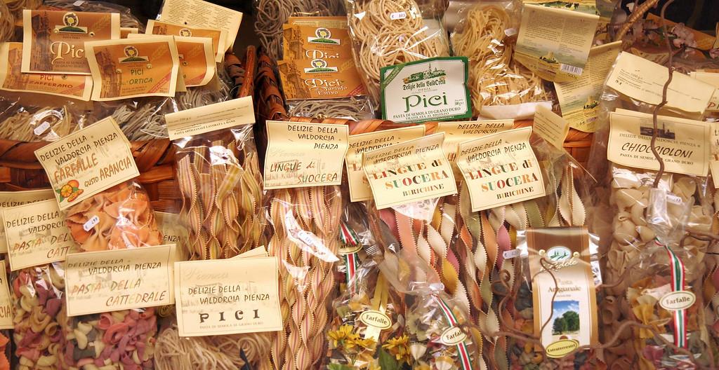 Pasta in a shop, Siena, Italy