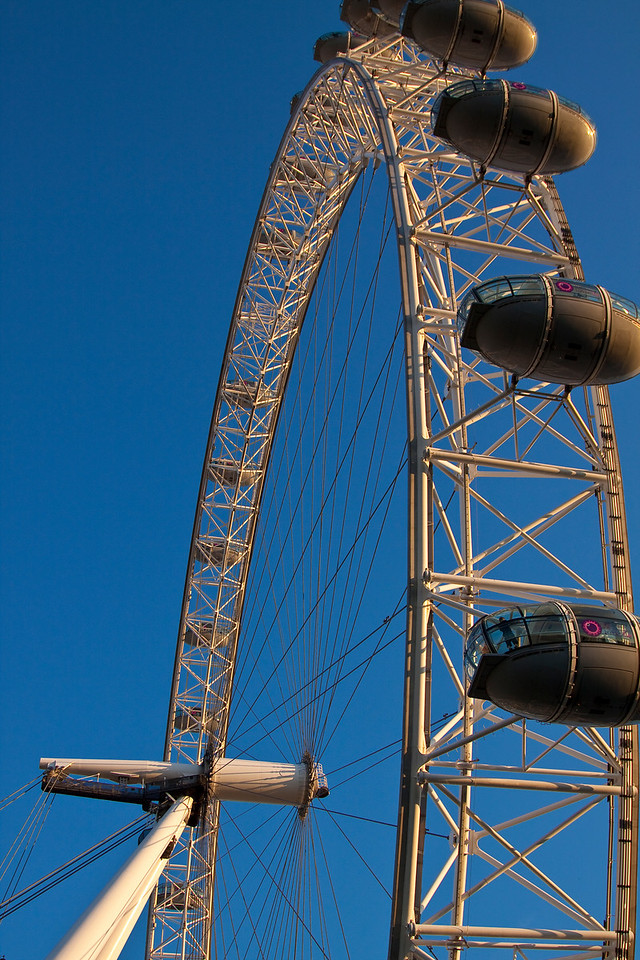 The London Eye...so big up close.  If you've ever been, still quite overpriced.  London, United Kingdom