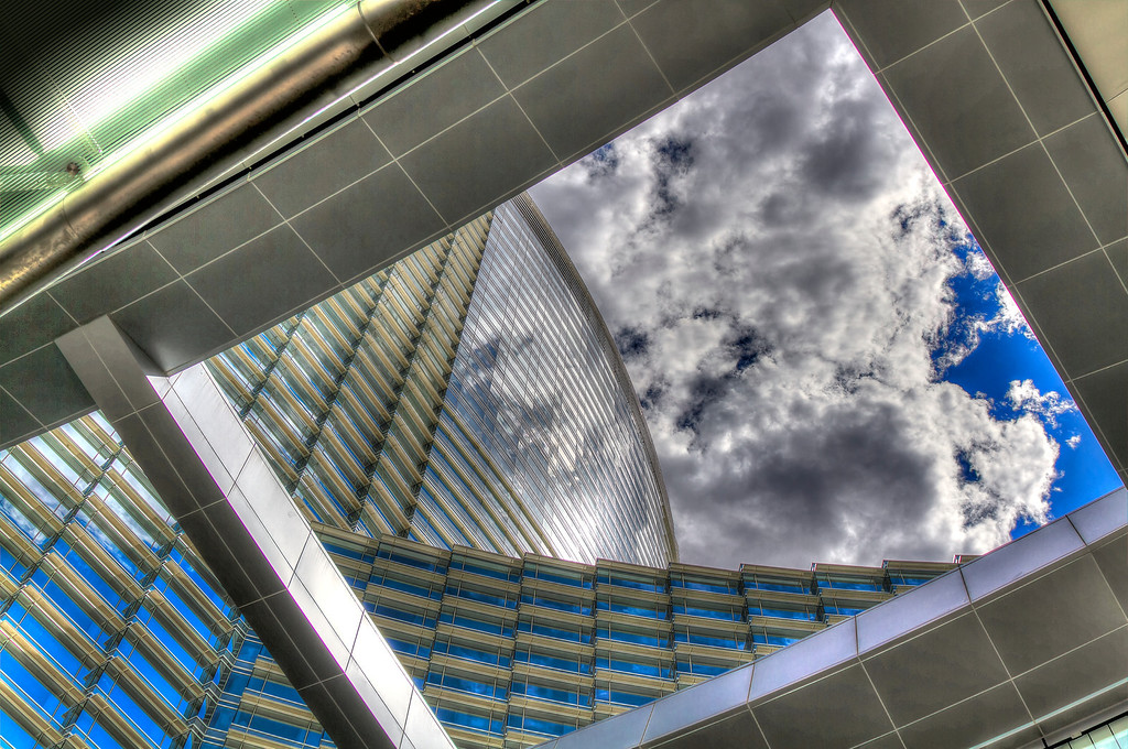 Angles and curves at Aria.  Las Vegas, NV