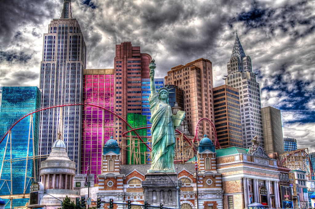 New York, New York in HDR.  Las Vegas, NV