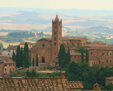 View from Il Duomo over Tuscany, Siena, Italy