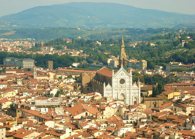 View from Il Duomo over Florence, Florence, Italy