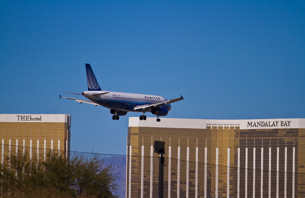 These planes always look like they are going to land on the Strip.  Las Vegas, NV