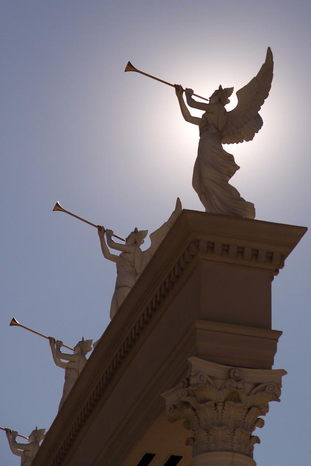 Angels at Caesar's Palace at midday