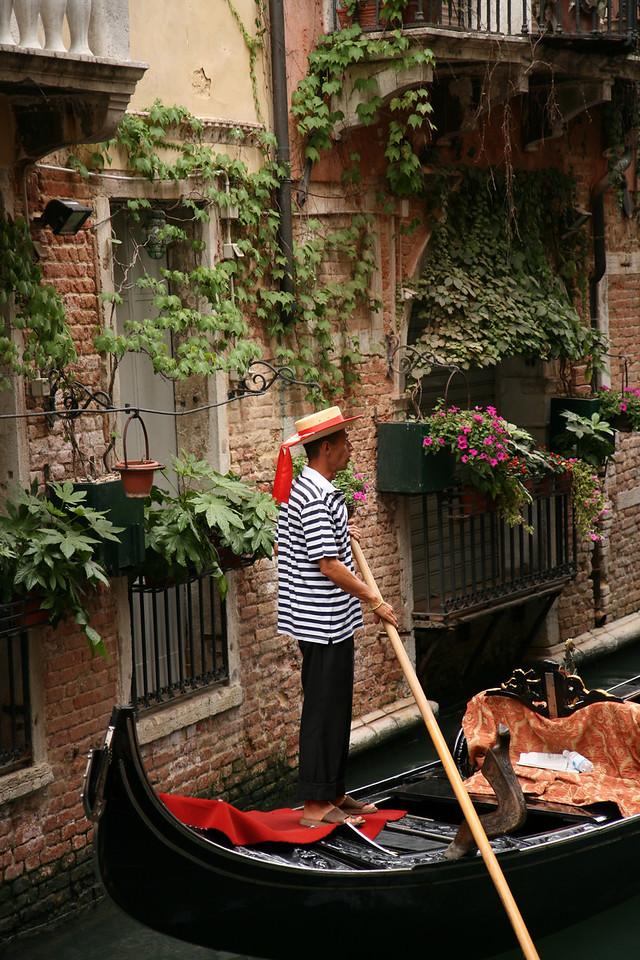 Gondolero, Venice, Italy