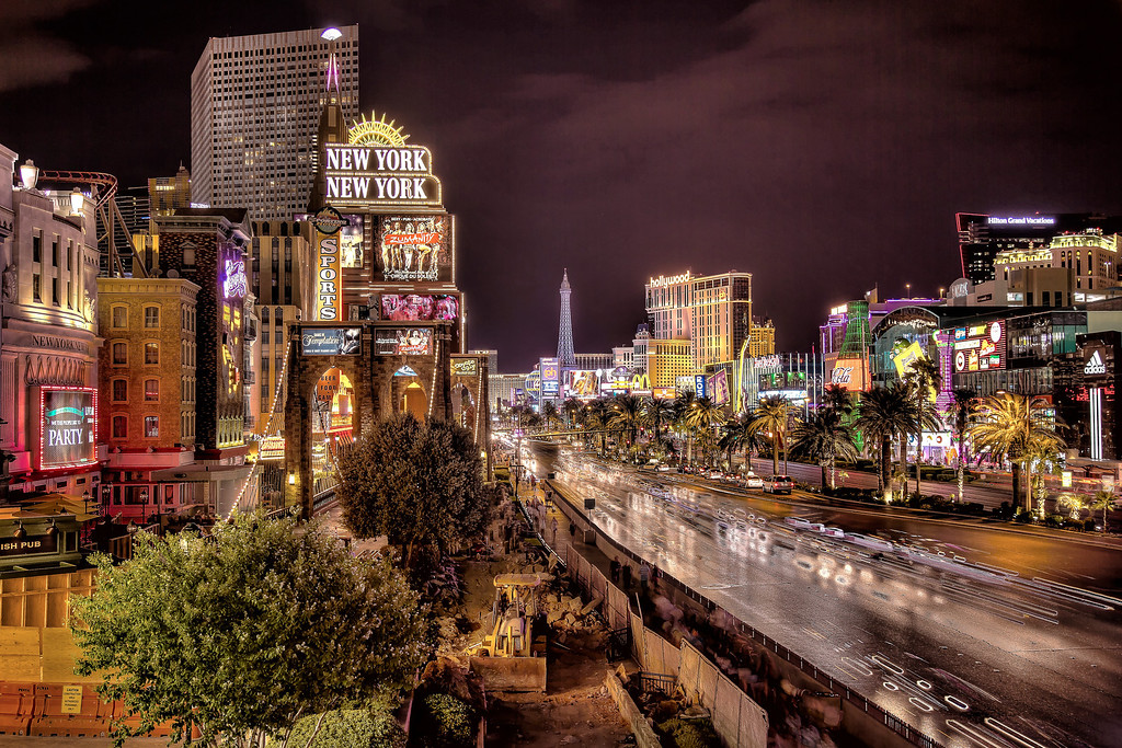 Night on the Strip.  Las Vegas, NV