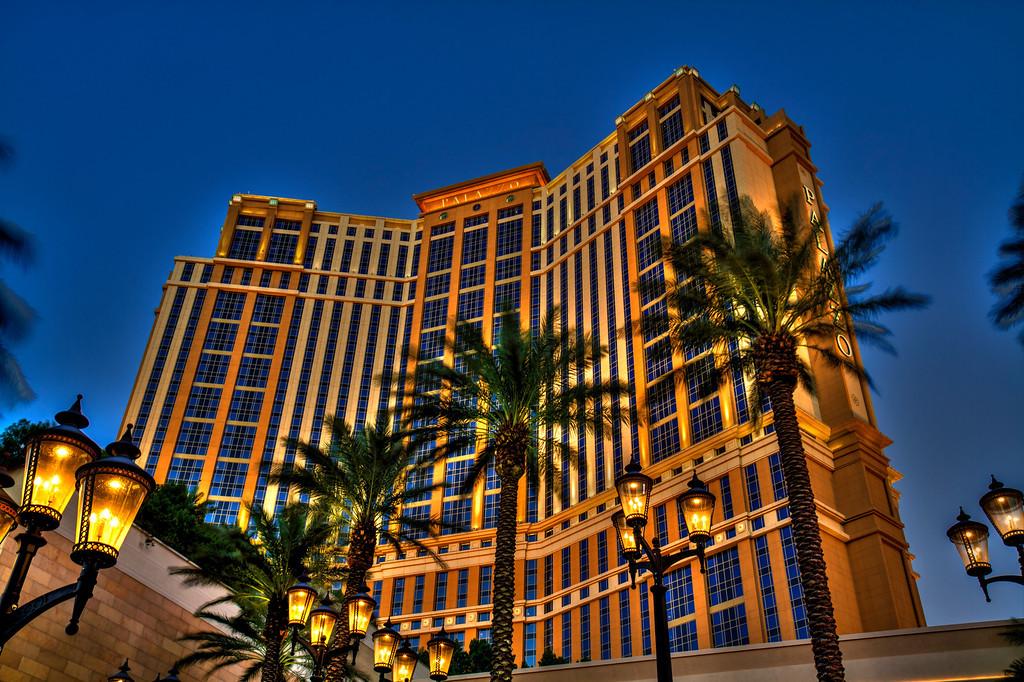 Palazzo at dusk.  Las Vegas, NV