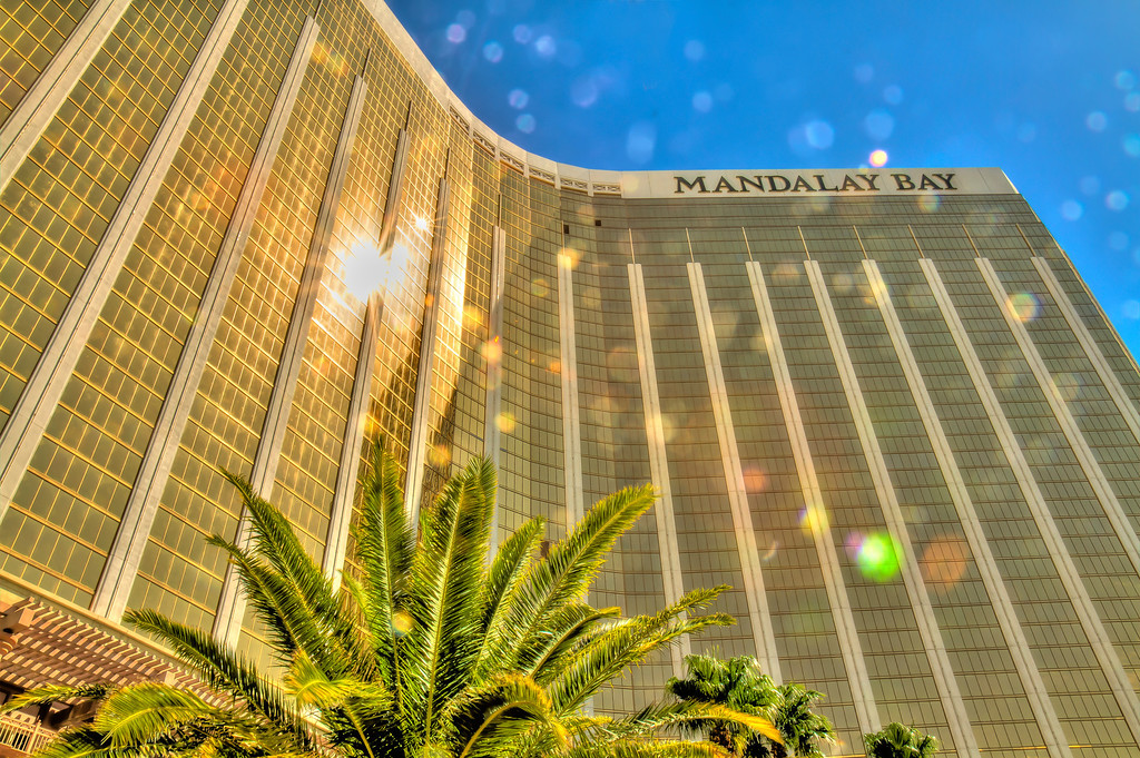 Towering Mandalay Bay.  Las Vegas, NV