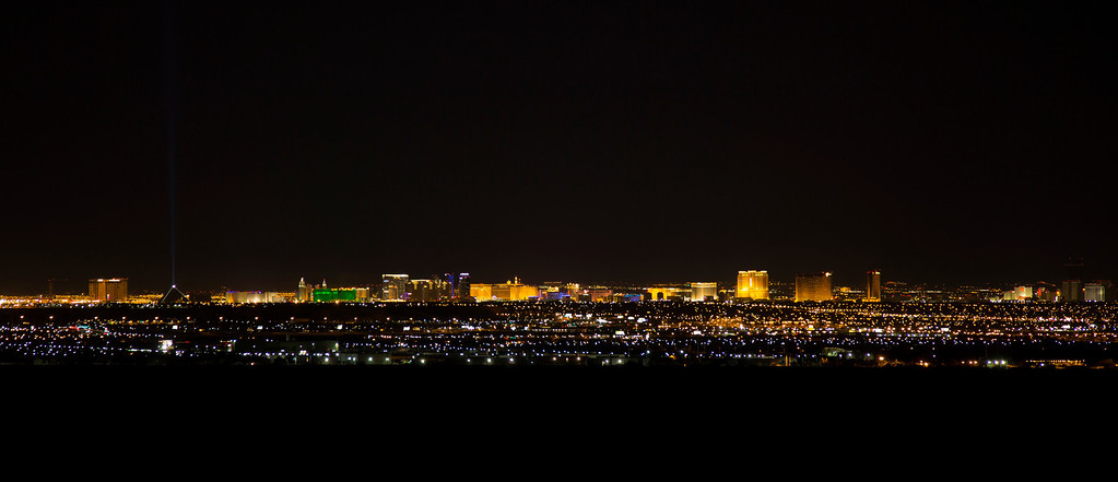 Las Vegas Strip from Henderson.  Las Vegas, NV