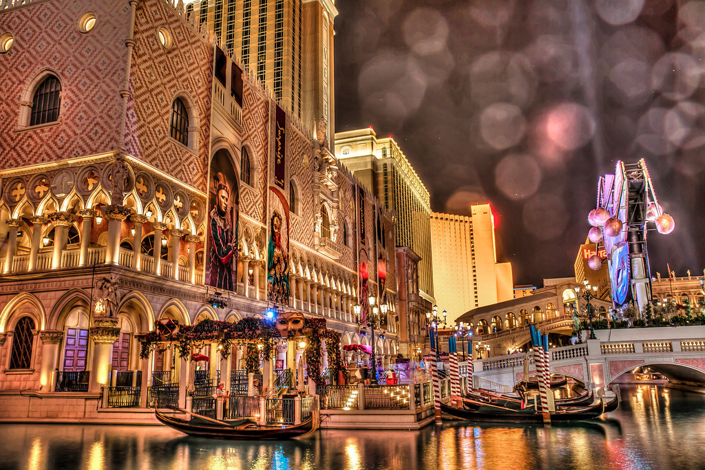 Venetian at night.  Las Vegas, NV