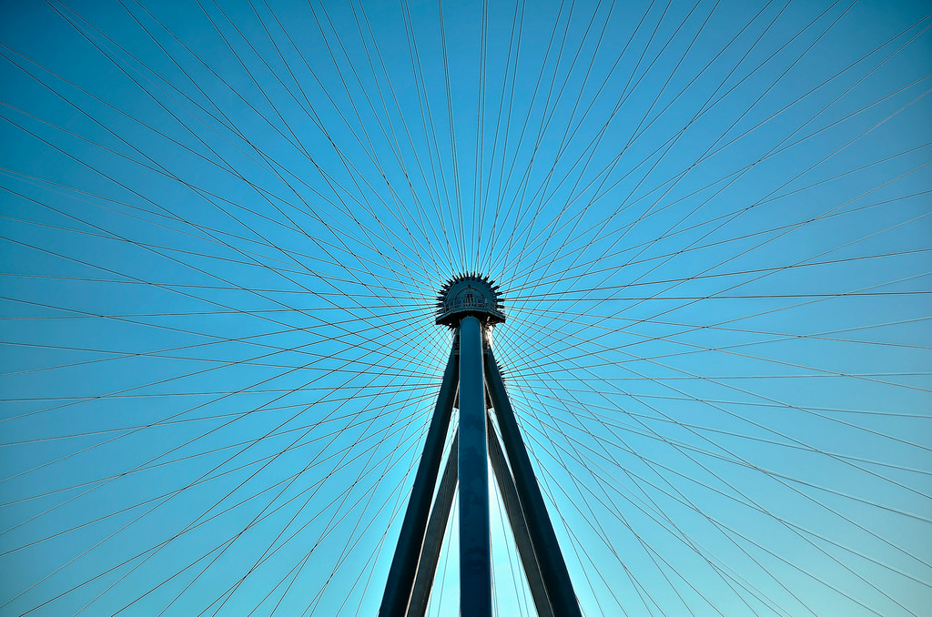 High Roller spokes.  I guess this is why I won't be able to fly an unmanned drone through there.  Las Vegas, NV