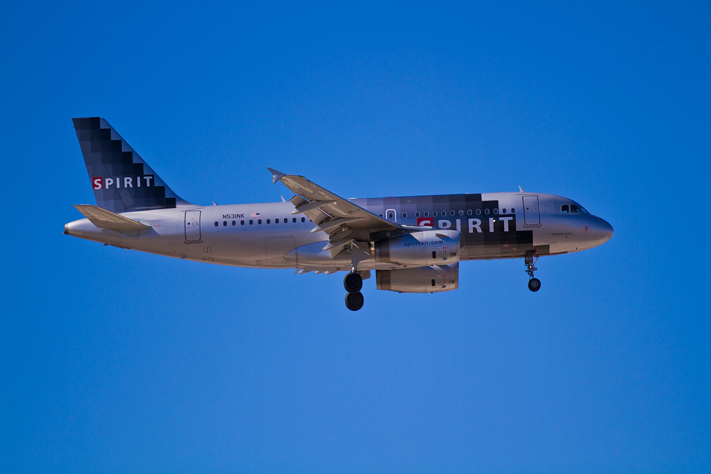 Spirit Airlines...I hear you have to bring your own toilet paper on this airline.  Las Vegas, NV