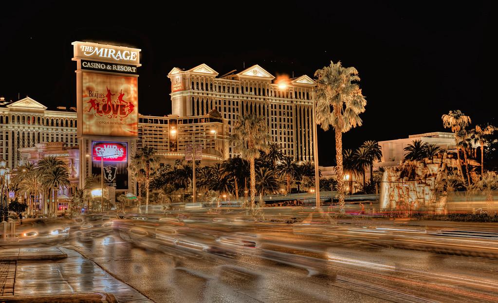 Nighttime in Vegas.  Las Vegas, NV
