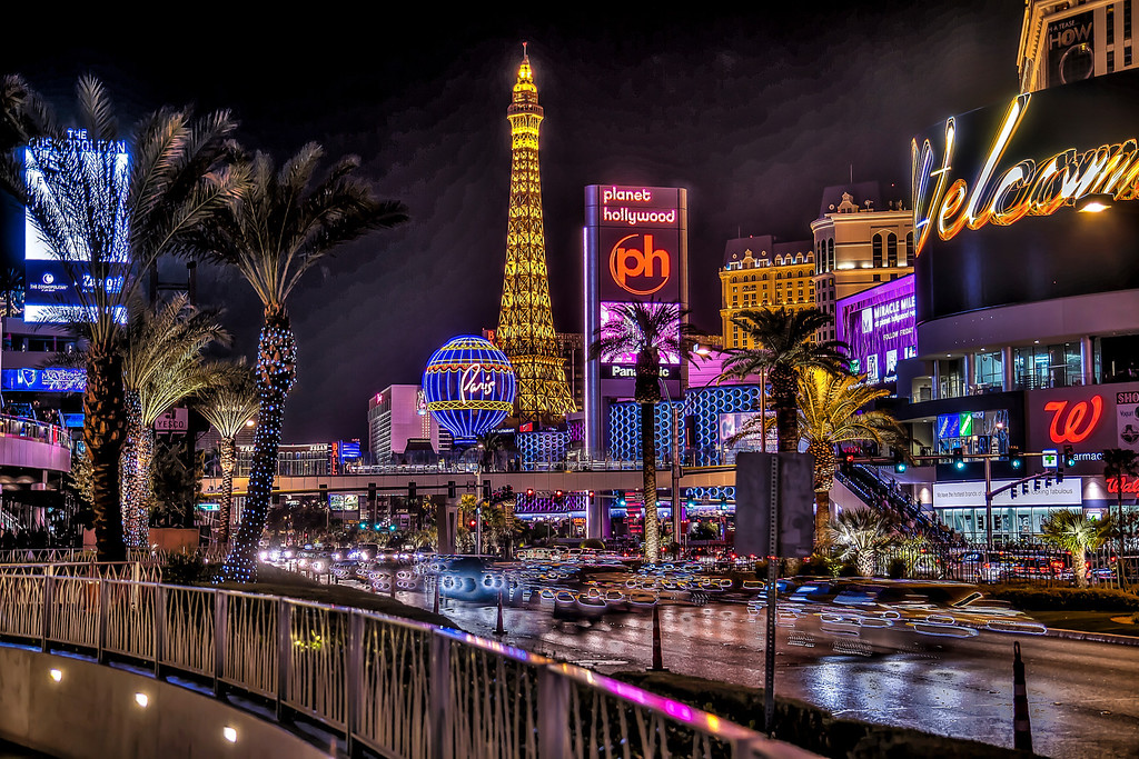 The heart of the Strip in HDR.  Las Vegas, NV