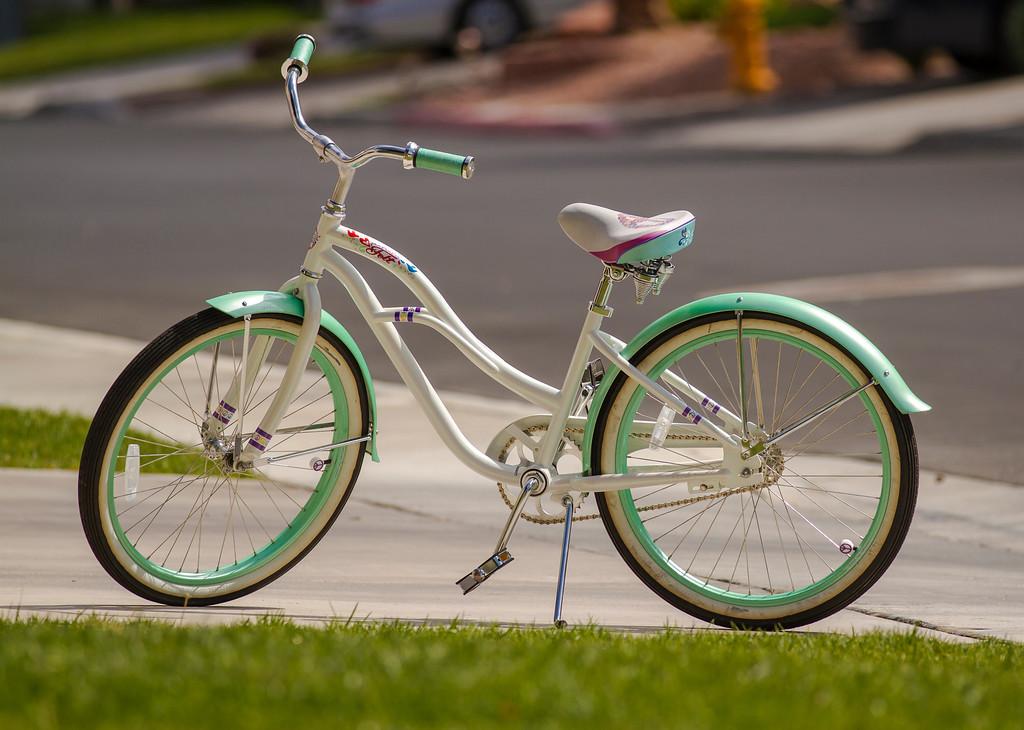 Bicycle waiting a rider.  Las Vegas, NV