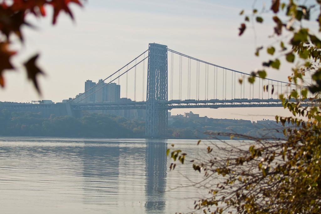 George Washington Bridge from Palisades Interstate Park, Englewood Cliffs, NJ