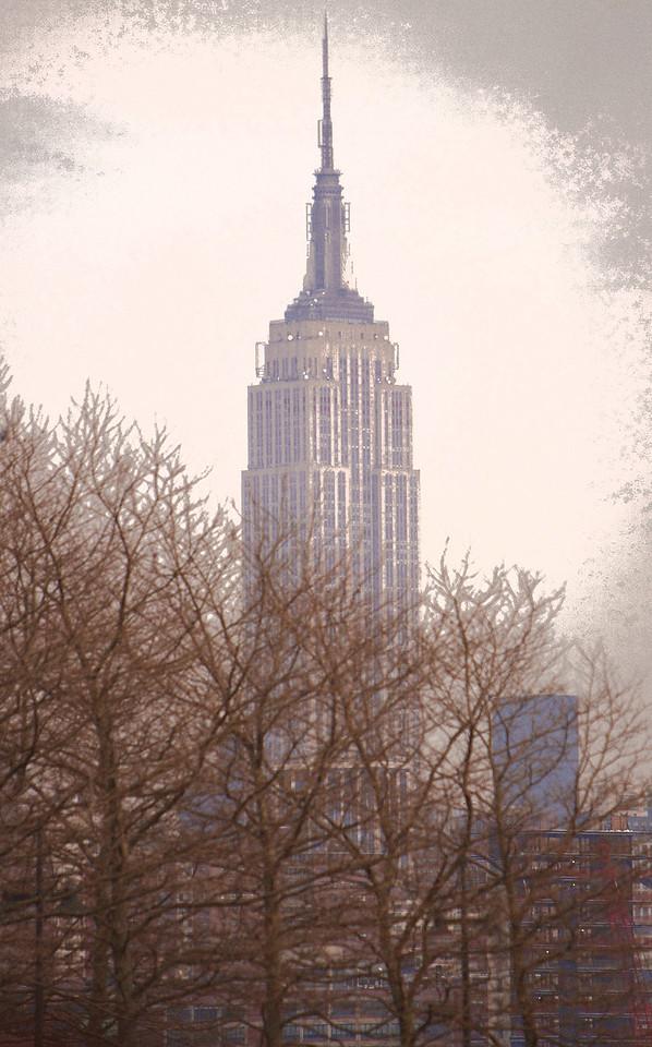 Empire State Building using filter, Hoboken, NJ