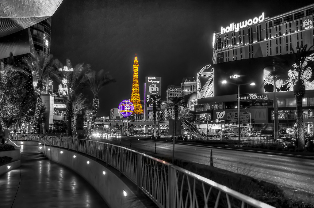 Iconic center strip.  Las Vegas, NV