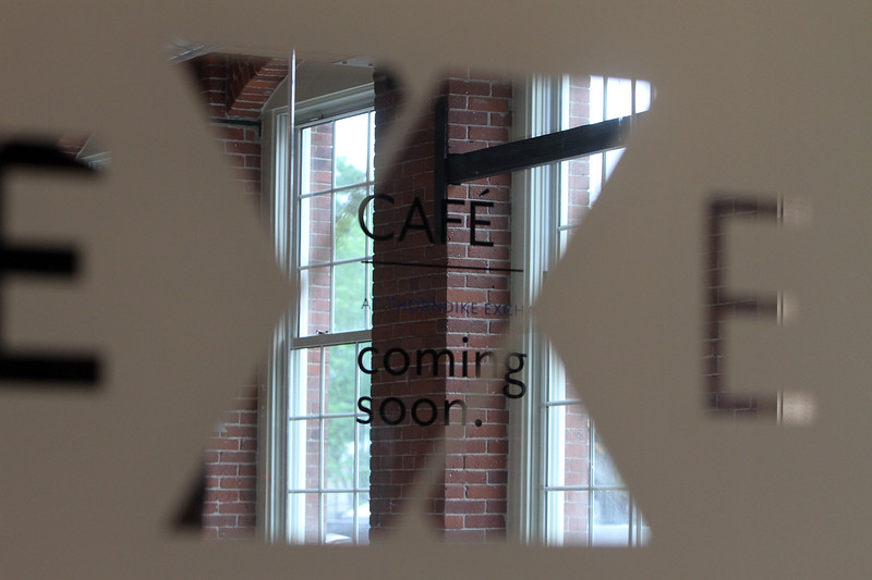 Future cafe space at entrance of Thorndike Exchange mixed use development. F(SUN/Julia Malakie)