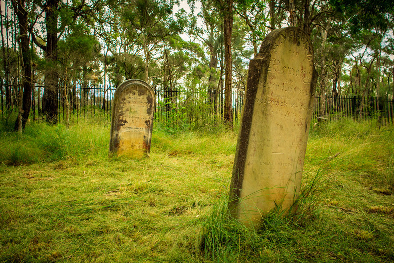 Castlereagh General Cemetery, Australia<br /> Marked out in the original planning of Castlereagh and dates back to 1814.