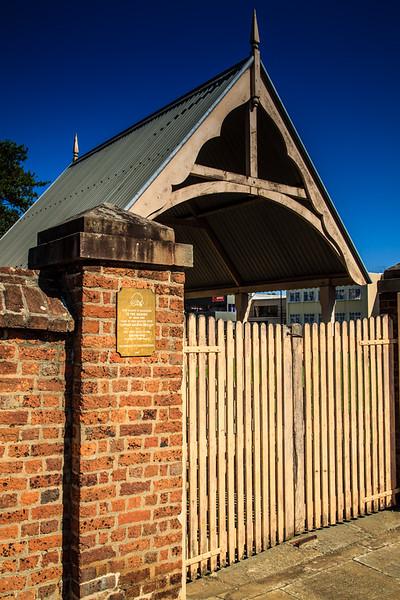 Parramatta, NSW, Australia<br /> Replica of the lychgate for St John's Cemetery. Original designed by James Houison.