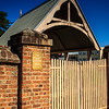 Parramatta, NSW, Australia<br /> Replica of the lychgate for St John's Cemetery. Original designed by James Houison.